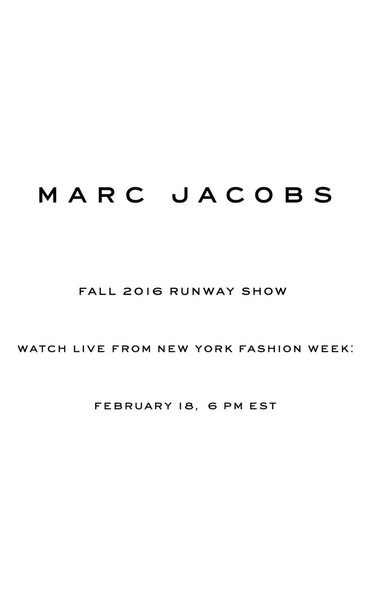 Marc Jacobs Fall 2016 Live from New York Fashion Week