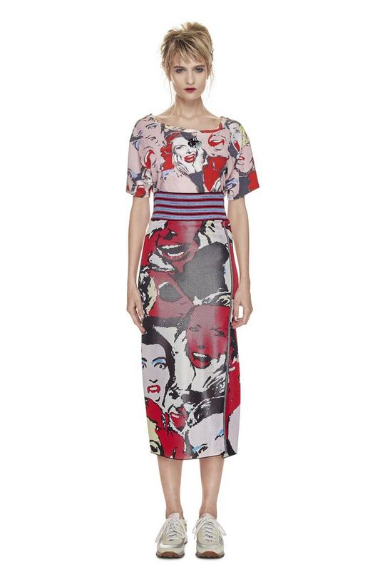 Printed Scream Queen Jacquard Skirt