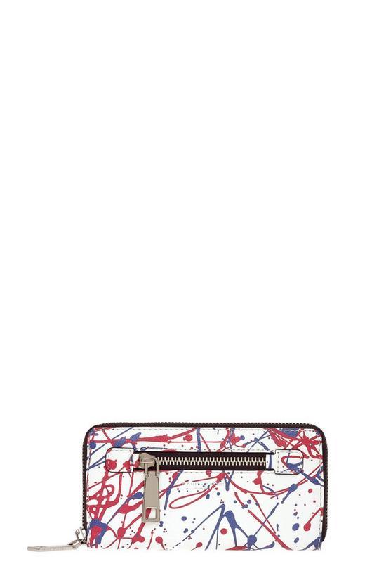 Splatter Paint Continental Wallet