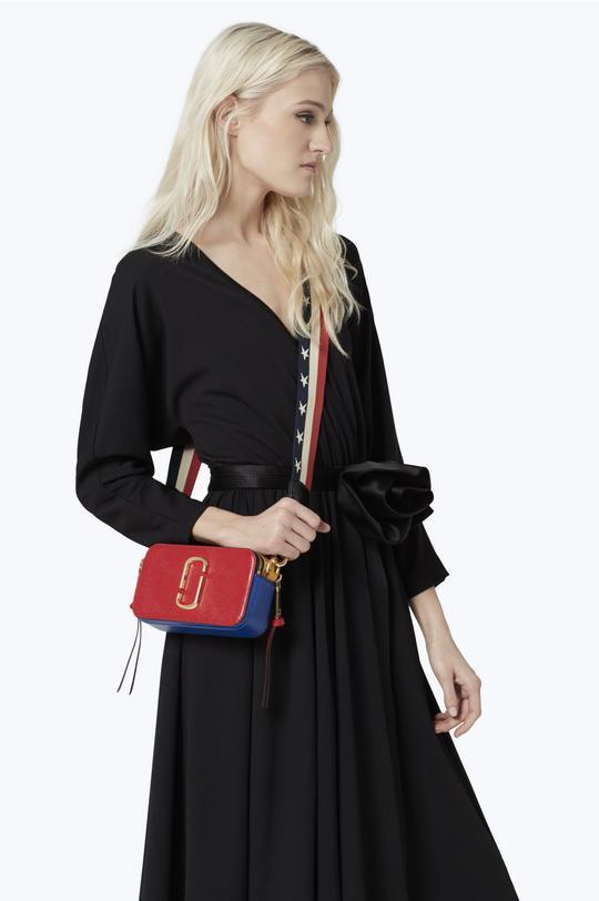 Snapshot Colorblock Saffiano Small Camera Bag