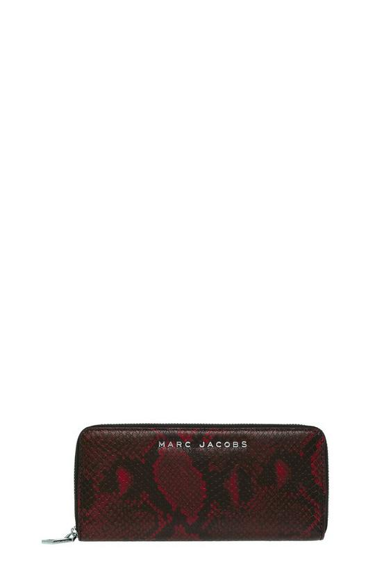 Snake Continental Leather Wallet
