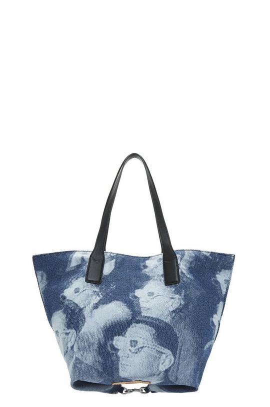 Denim Wingman Shopping Bag