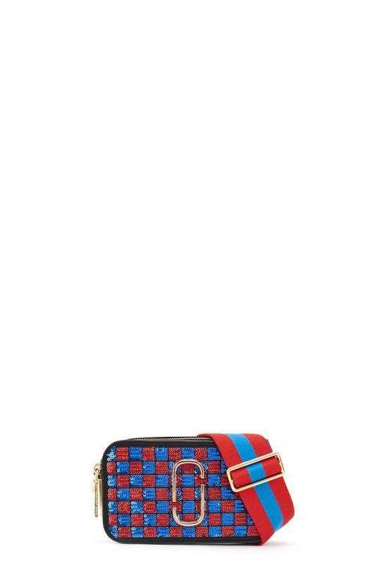 Snapshot Sequins Checker Small Camera Bag