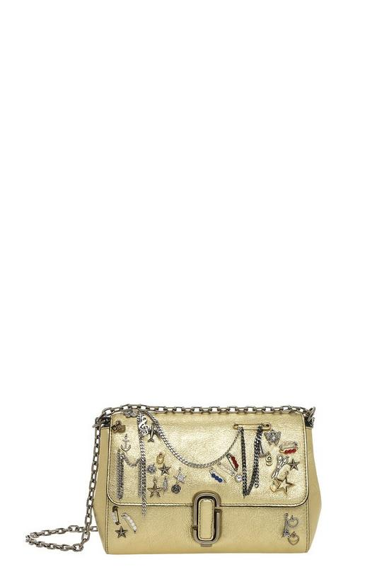 Charms and Trinkets Leather Shoulder Bag