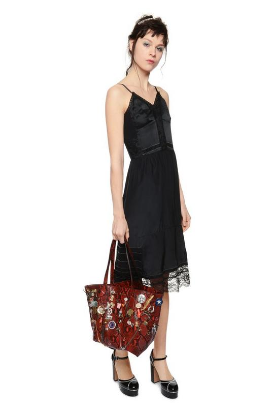 Snake Embellished Wingman Shopping Bag