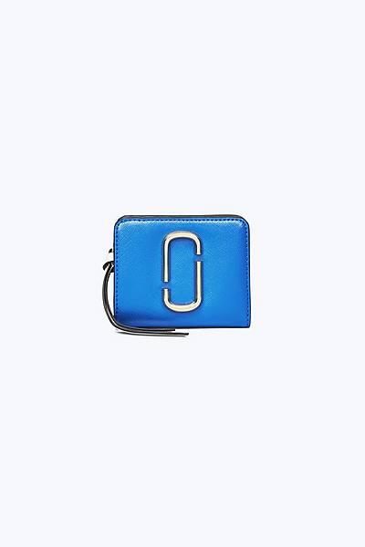 마크 제이콥스 Marc Jacobs Snapshot Mini Compact Wallet,DAZZLING BLUE MULTI