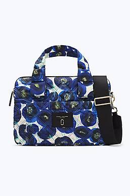 마크 제이콥스 블루 로즈 프린트 15인치 노트북 랩탑 케이스 가방 (맥북 파우치) Marc By Marc Jacobs Blue Rose Printed Knot 15 Commuter Case,Color-BLUE MULTI