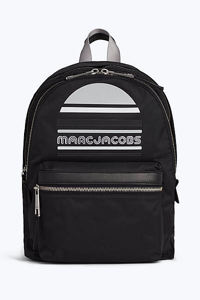 마크 제이콥스 로고 트랙 팩 백팩 라지 - 블랙  Marc By Marc Jacobs Trek Pack Large Logo Backpack,BLACK