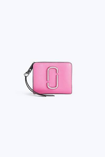 마크 제이콥스 Marc Jacobs Snapshot Mini Compact Wallet,BRIGHT PINK MULTI