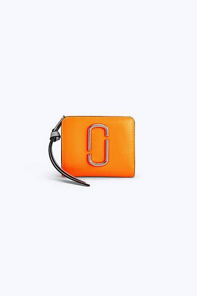 마크 제이콥스 Marc Jacobs Snapshot Mini Compact Wallet,BRIGHT ORANGE MULTI