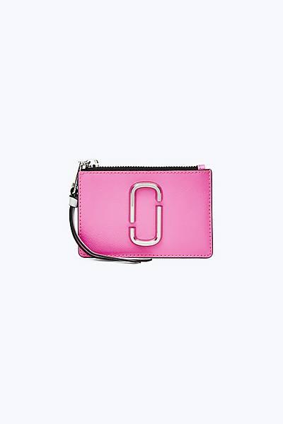마크 제이콥스 Marc Jacobs Snapshot Top Zip Multi Wallet,BRIGHT PINK MULTI