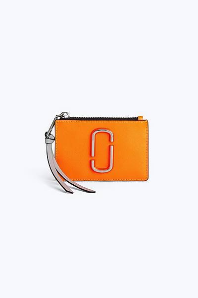 마크 제이콥스 Marc Jacobs Snapshot Top Zip Multi Wallet,BRIGHT ORANGE MULTI