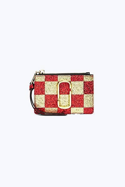 마크 제이콥스 Marc Jacobs Checkerboard Snapshot Top-Zip Multi Wallet,GOLD MULTI