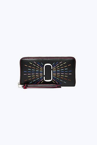 마크 제이콥스 Marc Jacobs Snapshot Confetti Standard Continental Wallet,BLACK MULTI