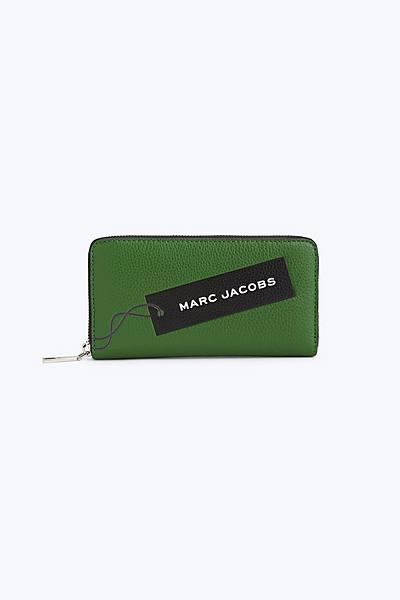 마크 제이콥스 Marc Jacobs The Tag Standard Continental Wallet,PEPPER GREEN