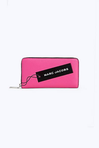 마크 제이콥스 Marc Jacobs The Tag Standard Continental Wallet,BRIGHT PINK