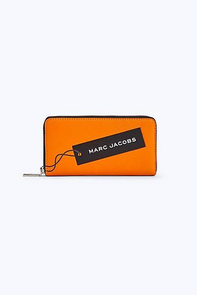 마크 제이콥스 Marc Jacobs The Tag Standard Continental Wallet,BRIGHT ORANGE