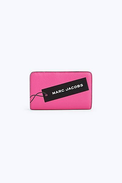 마크 제이콥스 Marc Jacobs The Tag Compact Wallet,BRIGHT PINK