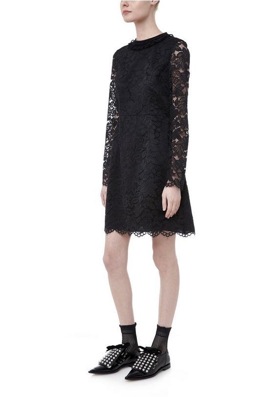 Isabella Lace Paneled Crew Dress