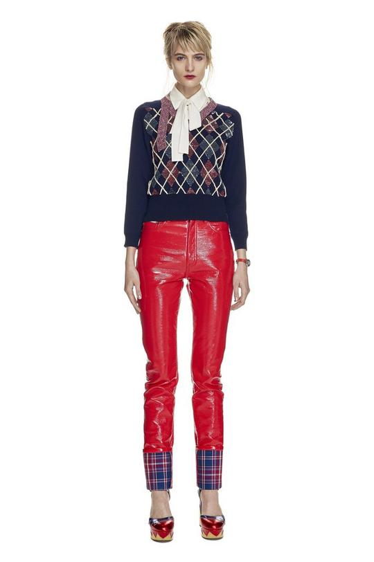 Highrise Stovepipe Pleather Pants