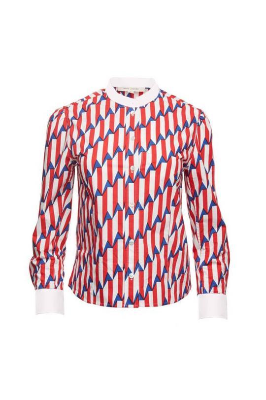 Arrow Head Print Poplin Button-Up Shirt