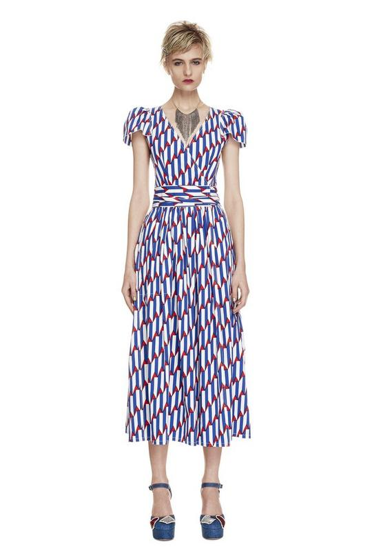 Arrow Head Print Poplin Dress