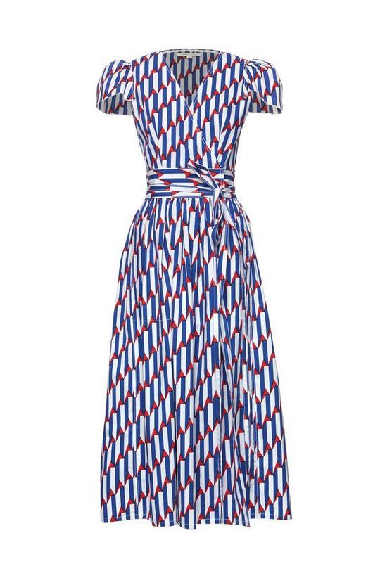 Arrow Head Print Poplin Dress