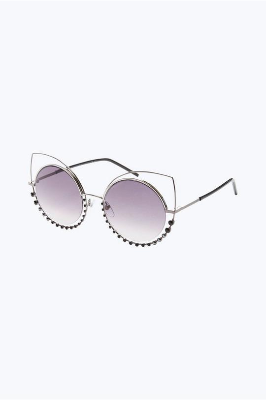 Crystal Studded Sunglasses