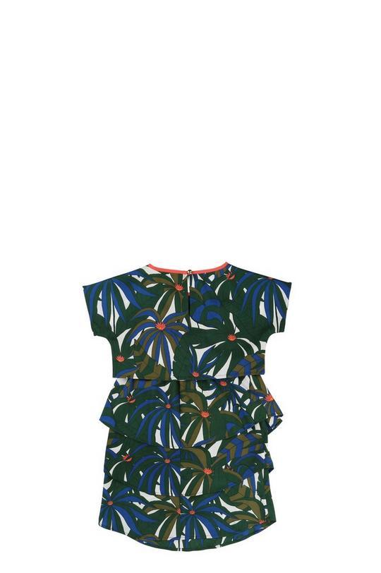 Printed Crêpe Dress