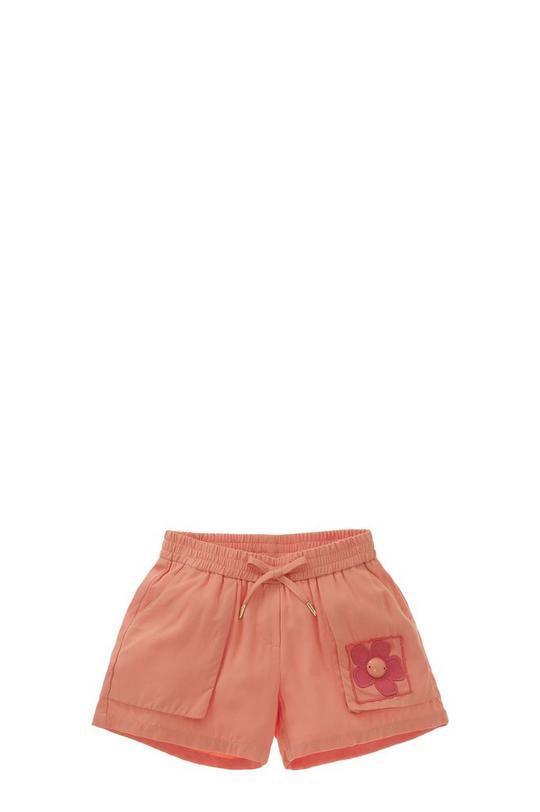 Twill Flower Shorts
