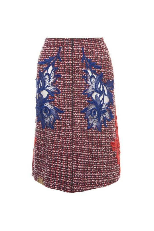 Tweed A-Line Skirt