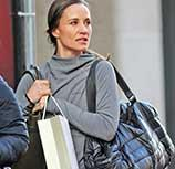 Pippa Middleton in Sweaty Betty, shop bags and accessories