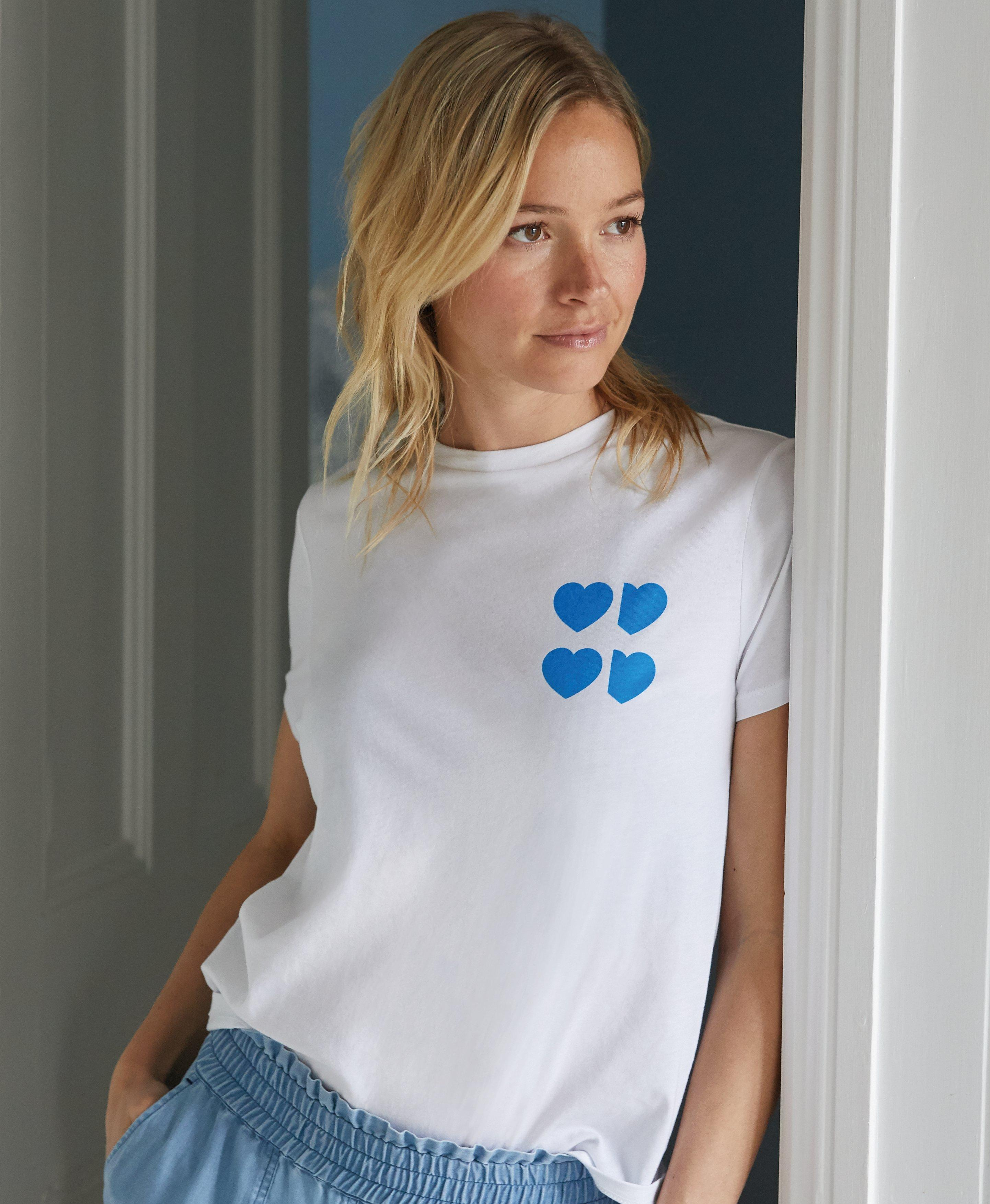 Update your basics this season with this super soft T-shirt with a blue heart design designed to our healthcare heroes. All proceeds from each sale of this t-shirt will go to NHS Charities Together, the NHS Charity collective supporting NHS Staff and volunteers.