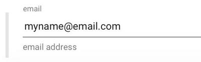 An email format string