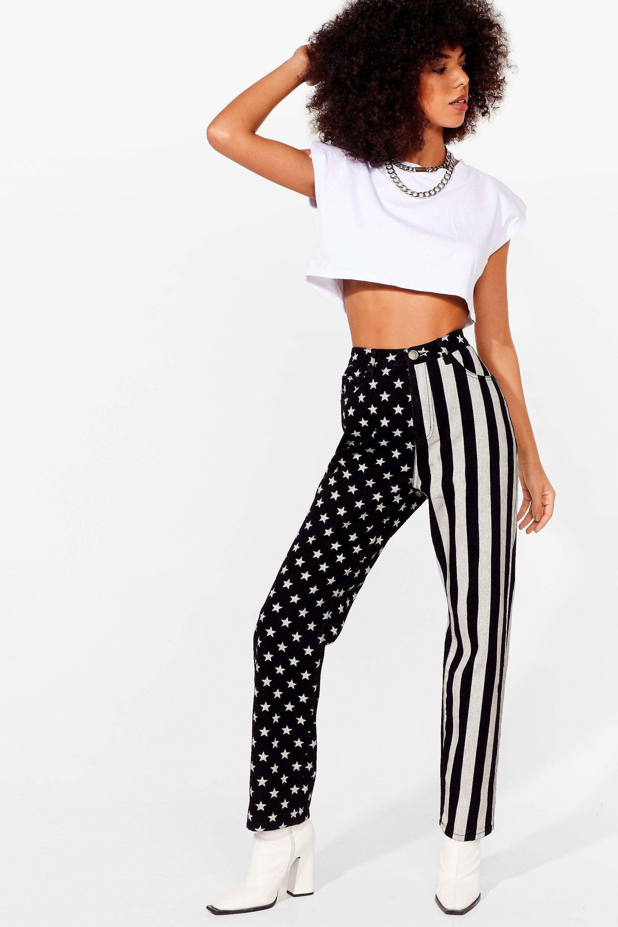 Image of Womens Party in the USA High-Waisted Mom Jeans - Washed Black