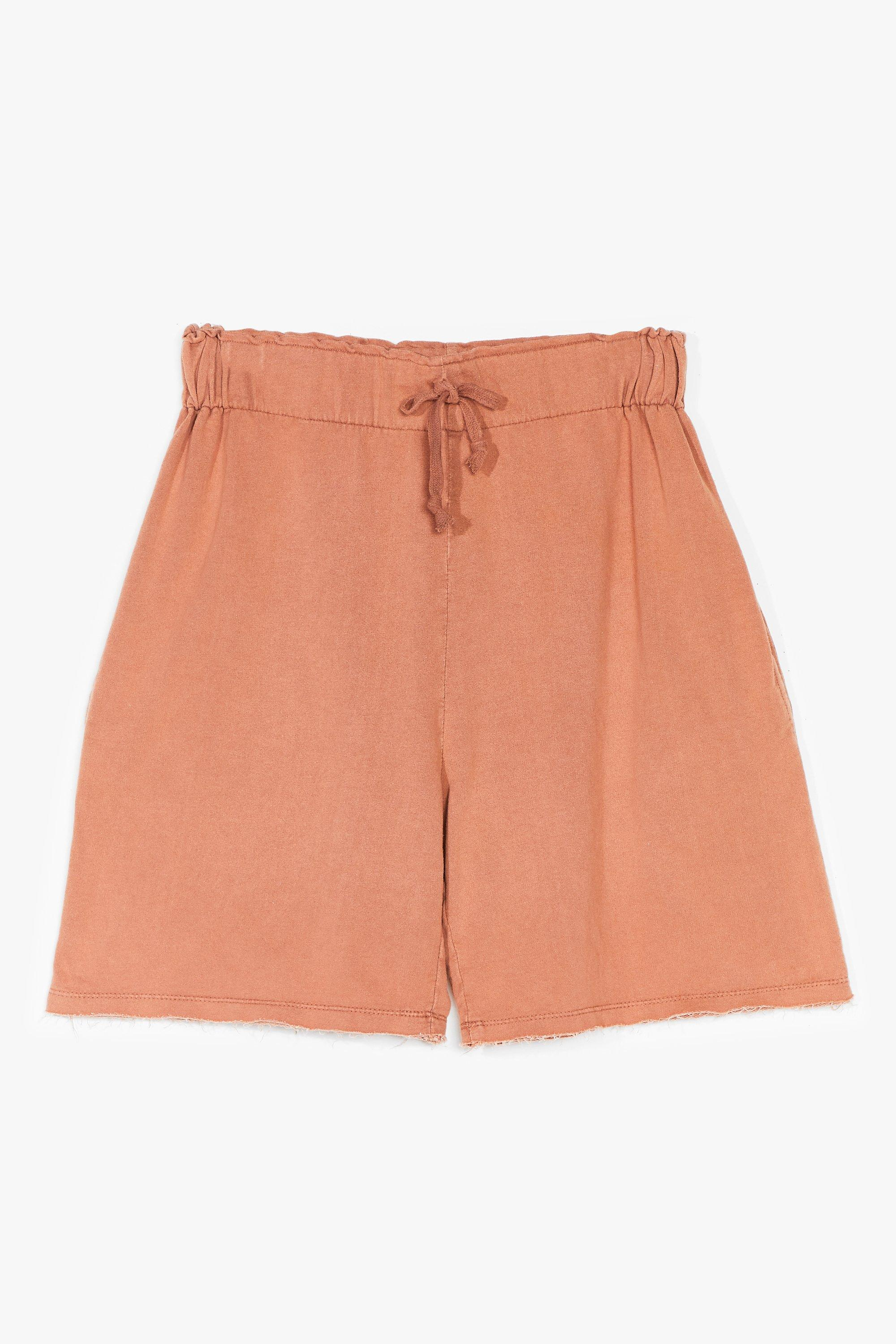 Image of Womens Always on the Run High-Waisted Jogger Shorts - Camel