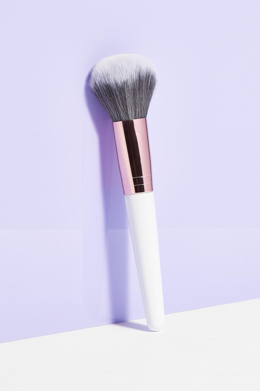 Womens Brushworks Just a Little Brush Powder Brush - White - ONE SIZE, White