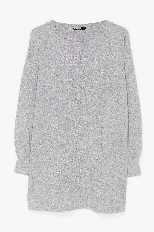 Image of Womens Oh Wait a Mini Plus Sweatshirt Dress - Grey