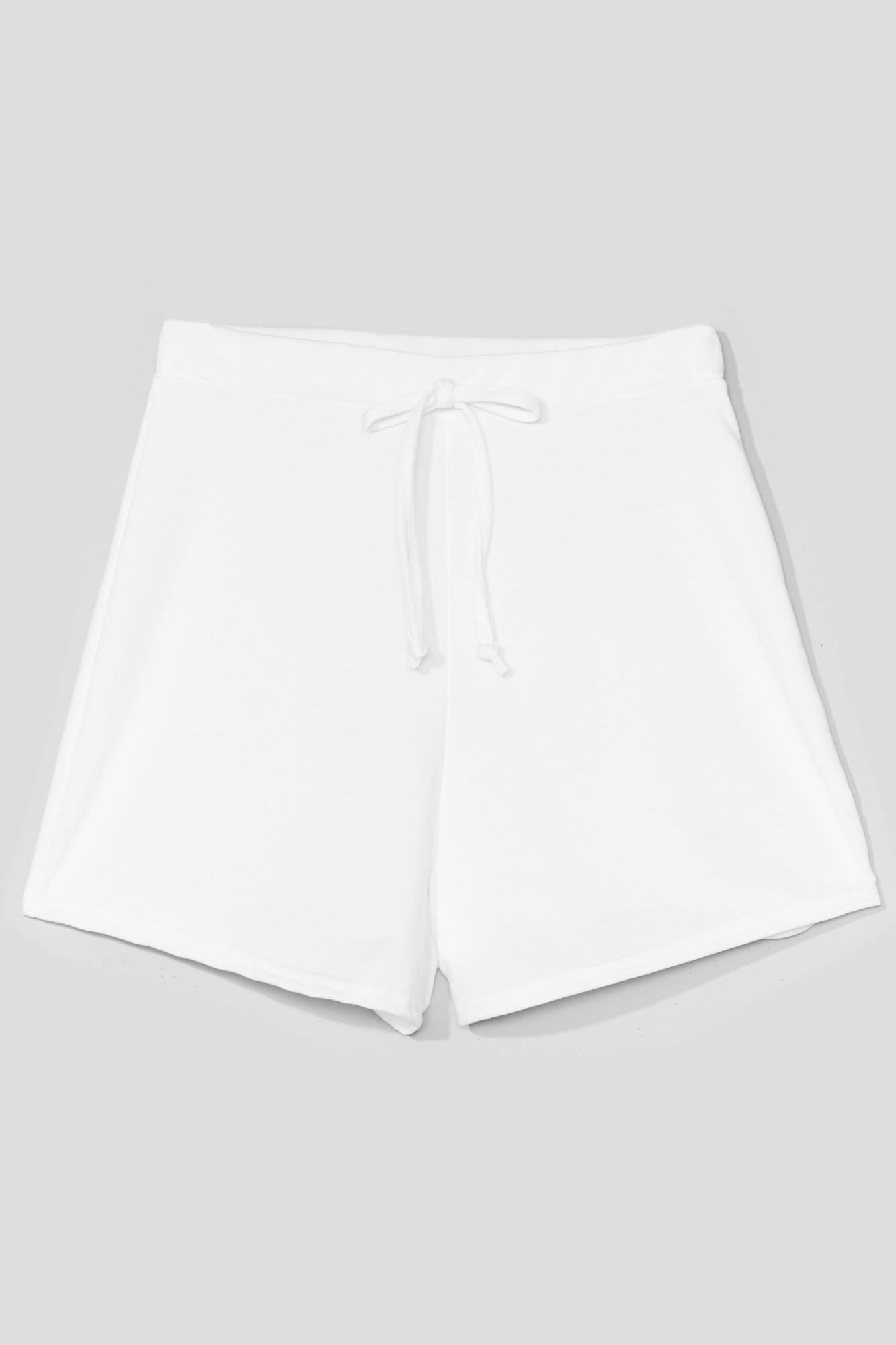 Image of Womens Coffee Run High-Waisted Relaxed Shorts - White