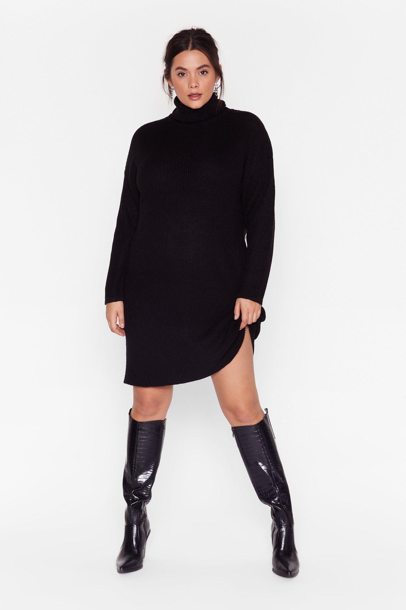 Image of Knit Just Got Better Plus Sweater Dress