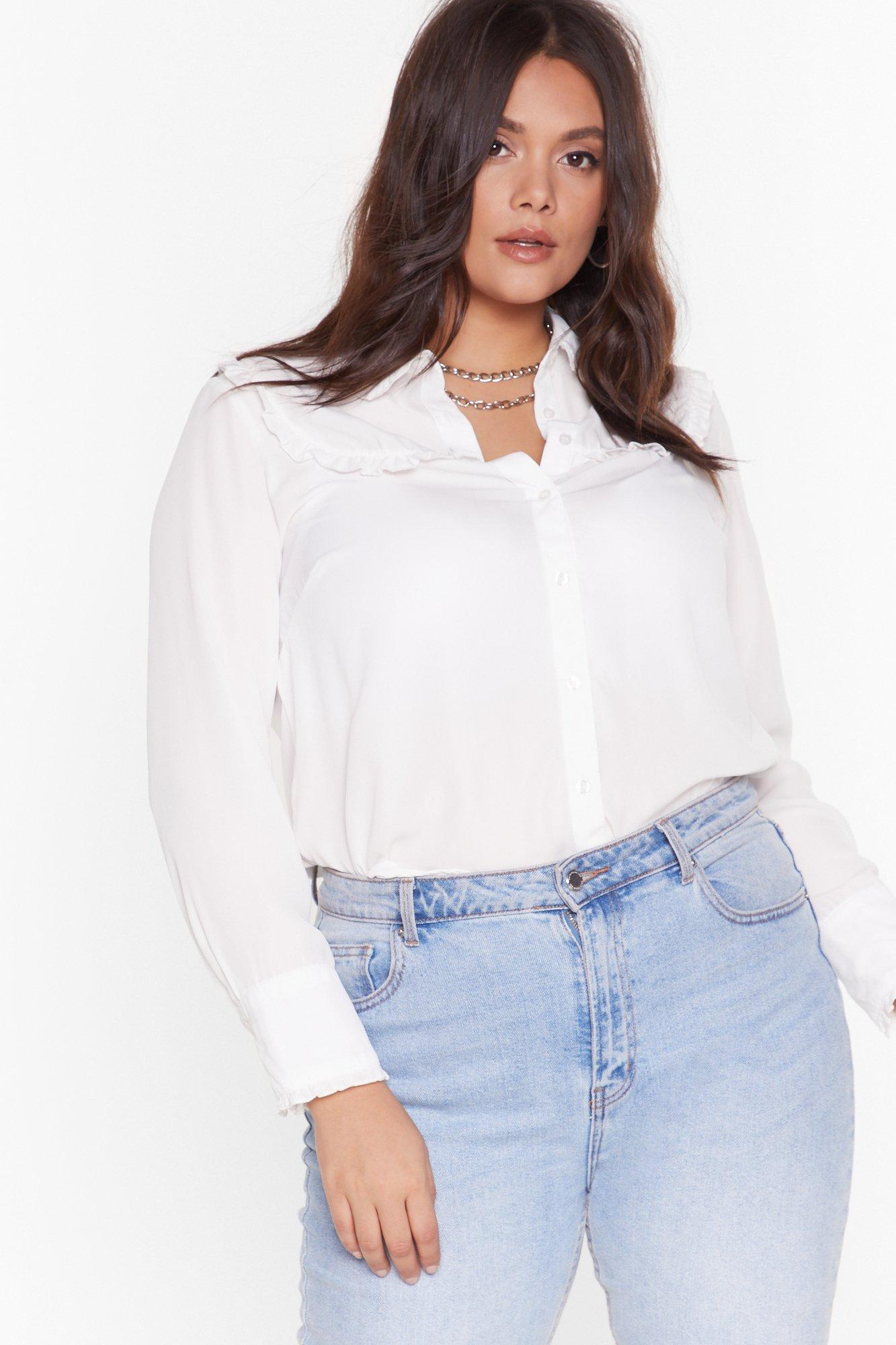 Image of We 're Frill Here Plus Shirt