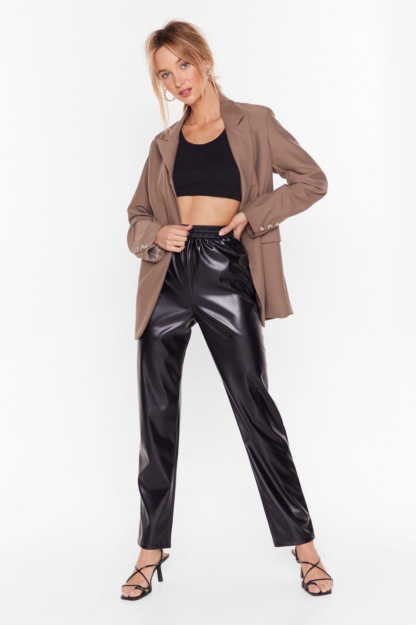 Image of All I Faux Leather Need High-Waisted Pants