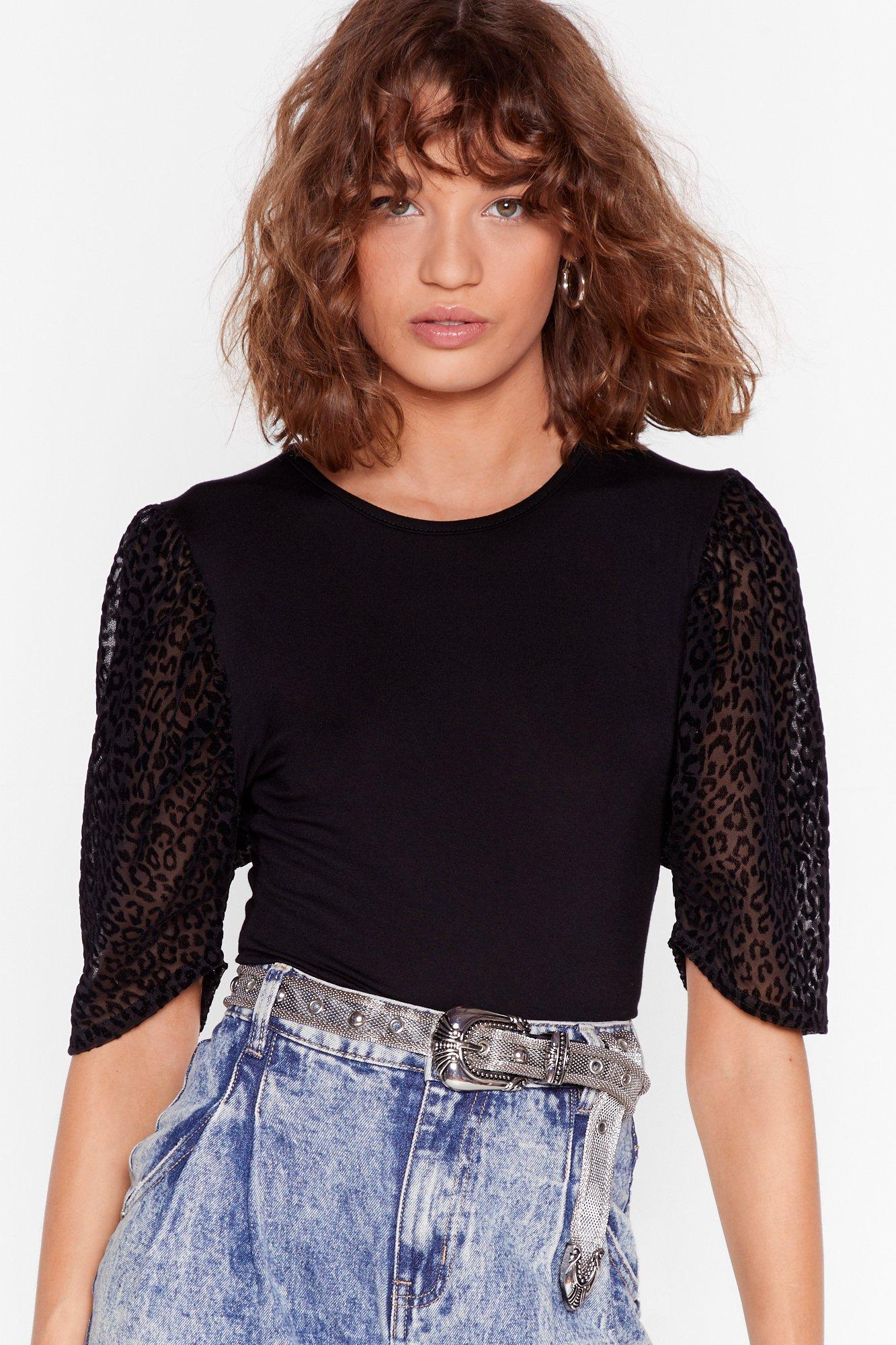 Image of In My Wildest Dreams Organza Leopard Top