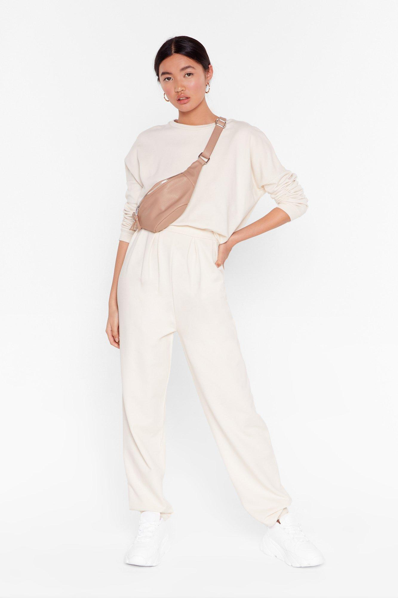 Image of Work Together Sweater and Pleated Joggers Set