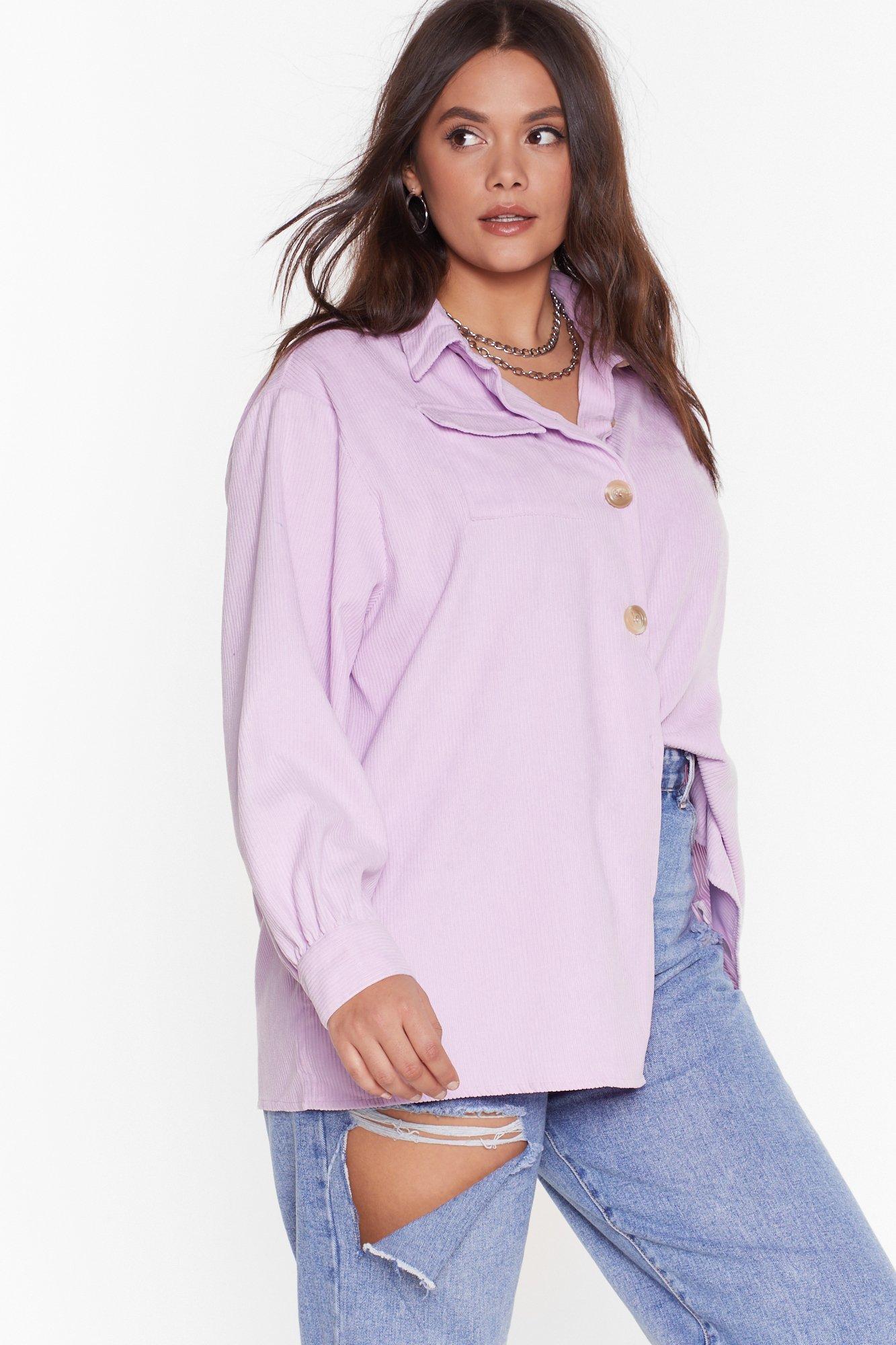 Image of Don't Texture Back Plus Corduroy Shirt