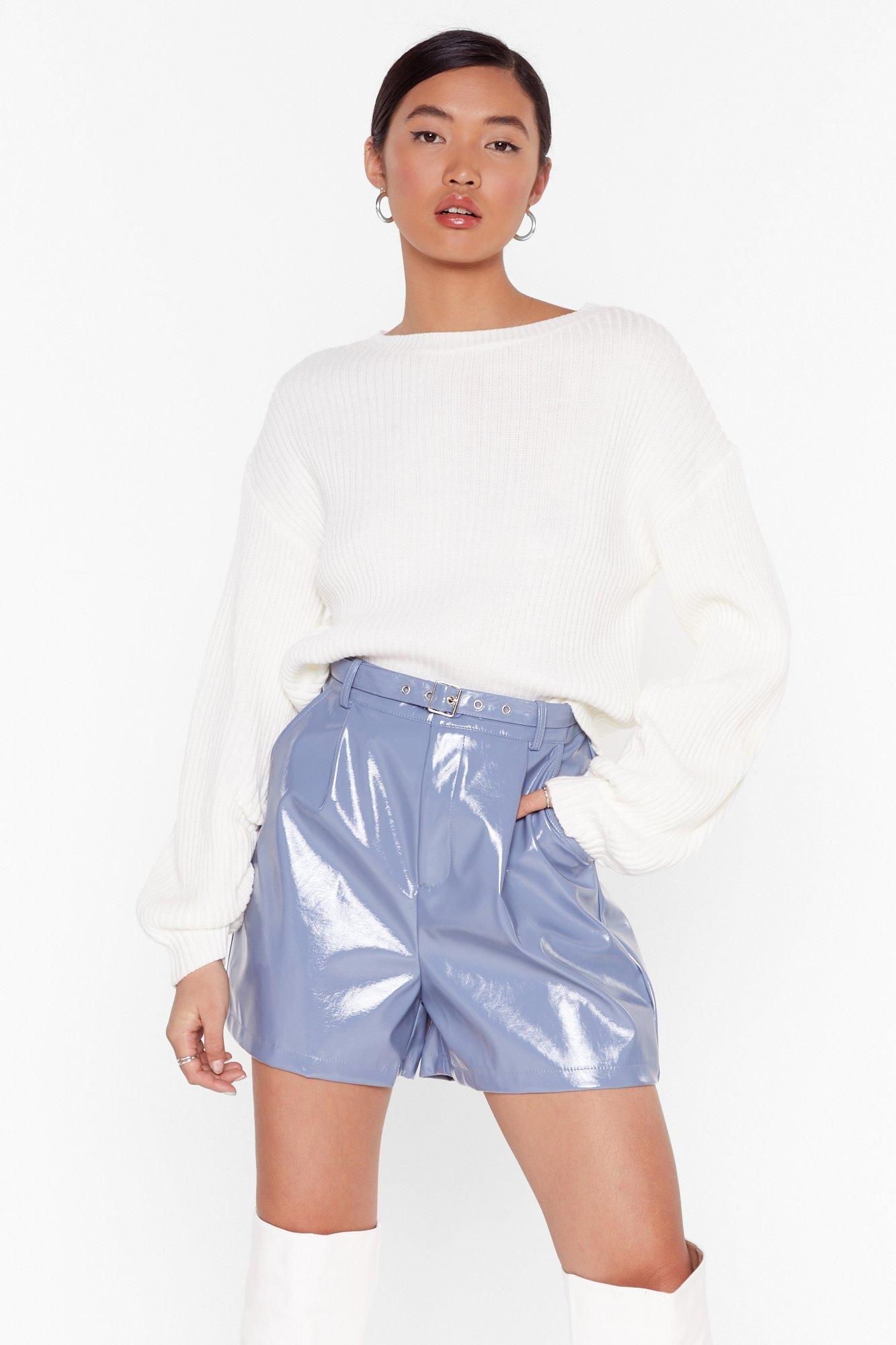Image of The Vinyl Countdown High-Waisted Shorts