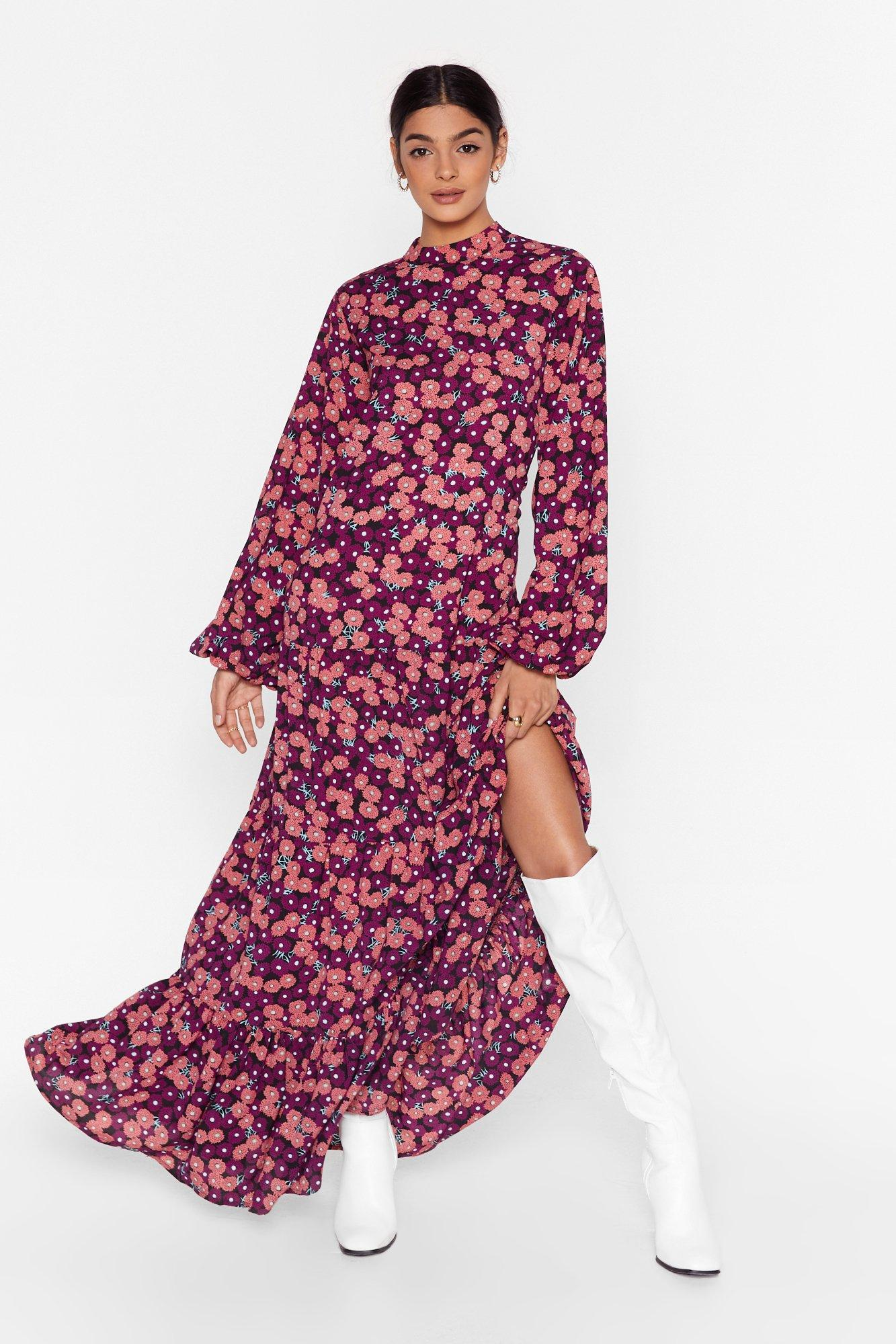 Image of Floral Max Smock Dress
