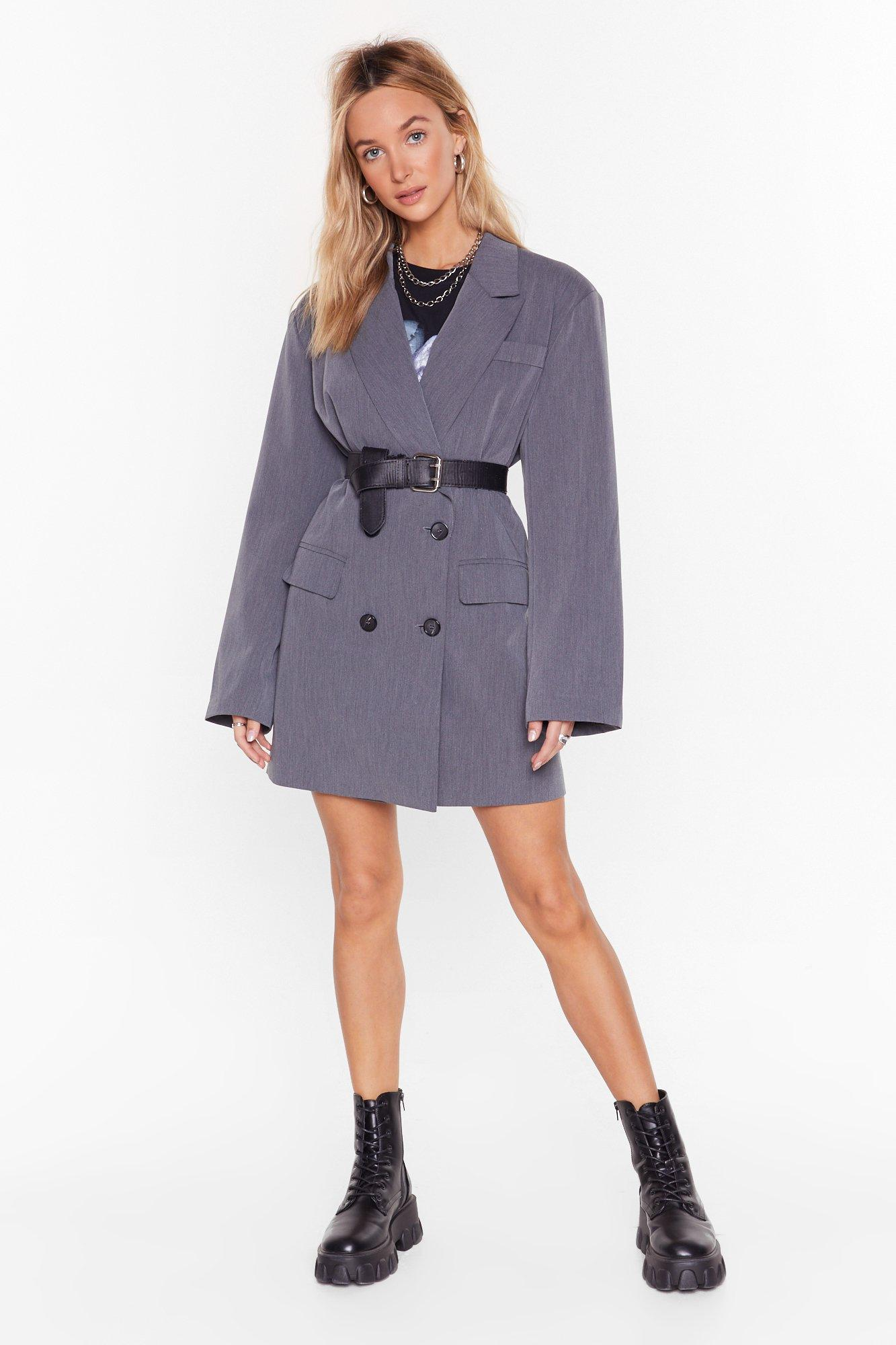 Image of Back in Business Oversized Blazer Dress