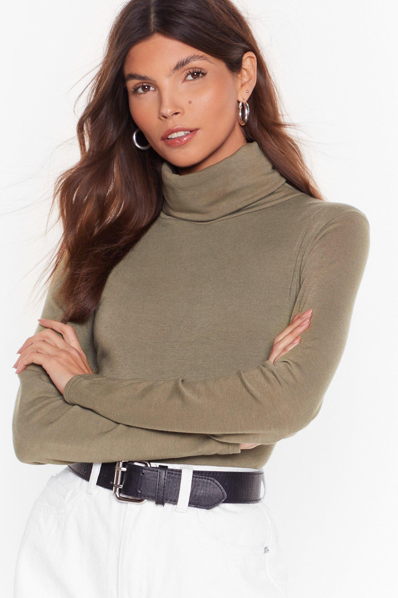 Image of Let It Roll Turtleneck Top
