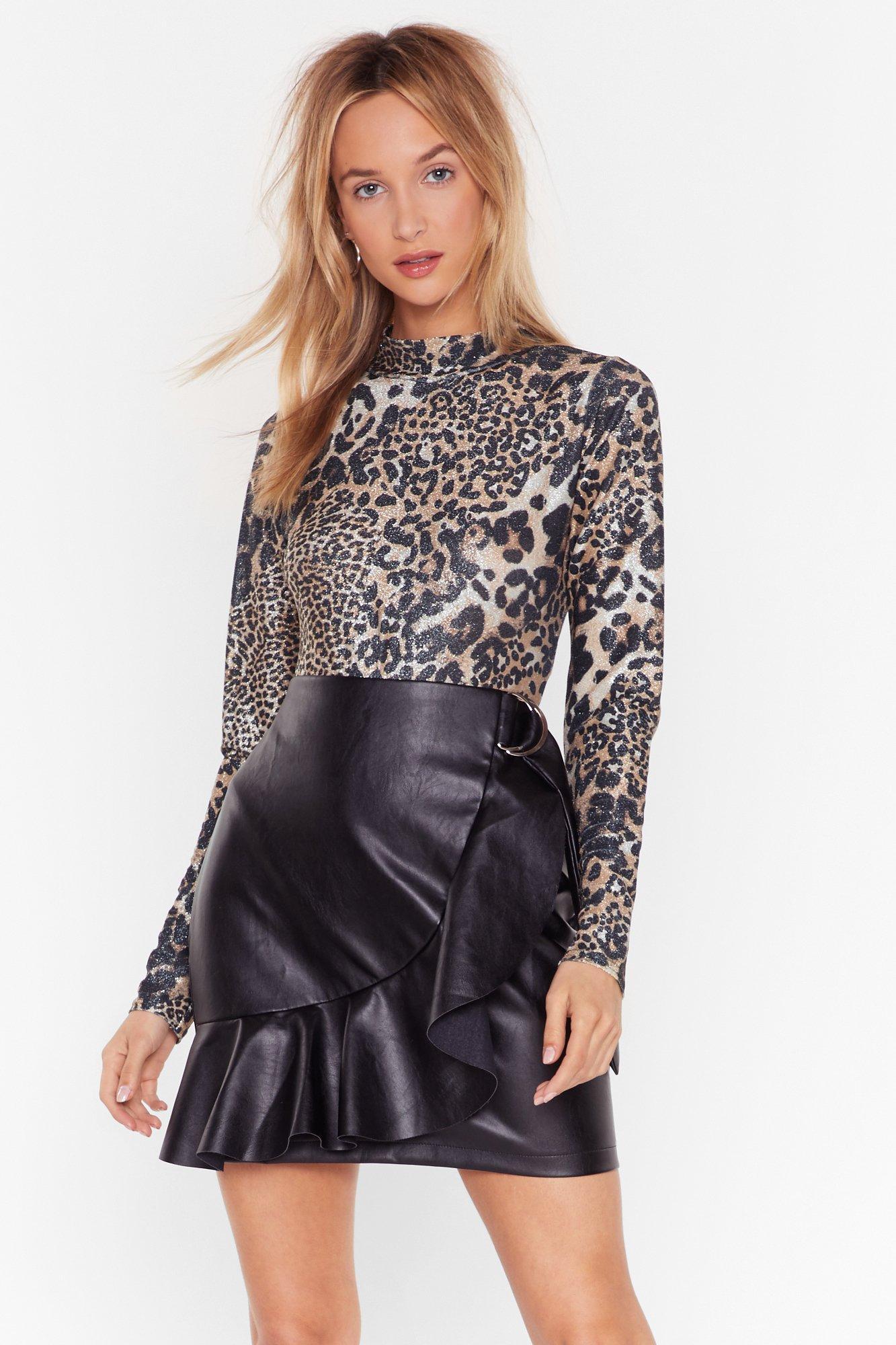 Image of Last Spotted Glitter Leopard Bodysuit